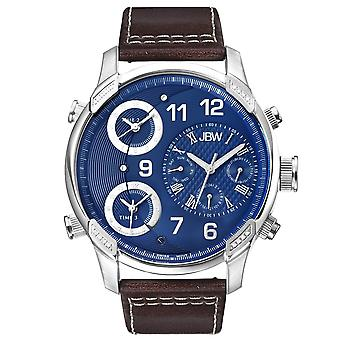 JBW diamond men's stainless steel watch G4 - silver / royal
