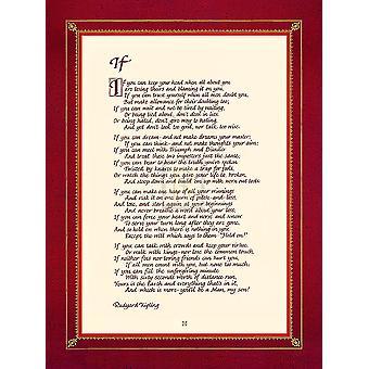 Jeśli wydrukować plakat przez Rudyard Kipling (12 x 16)