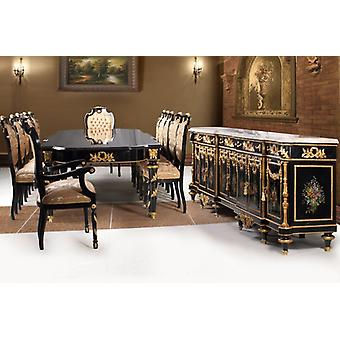 baroque dining room antique style replikat sideboard table chairs