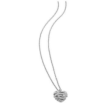 Guess ladies chain necklace heart glass stainless steel UBN21618