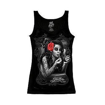 DGA Tees David Gonzales kunst Dame Tank Top Showtime Lip Stick sort tatovering