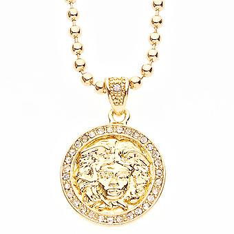 Iced out bling fashion chain - MICRO MEDUSA gold