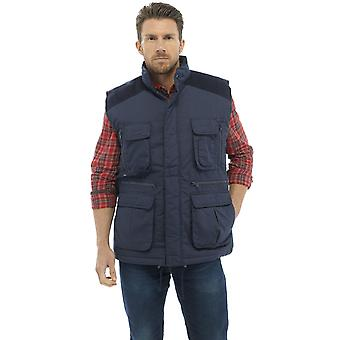 Tom Franks Mens Classic Country Clothing Padded BodyWarmer Outerwear Coat
