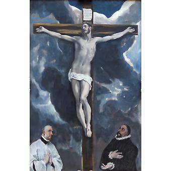 El Greco - Christ on a Cross Poster Print Giclee