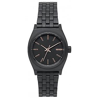 Nixon The Small Time Teller Watch - Black/Rose Gold