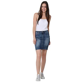 Short Denim Skirt Mini Skirt Stonewash Jean Skirt