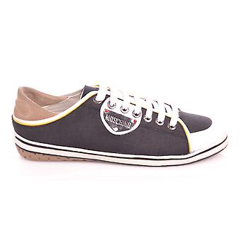 Moschino Black Low Canvas Trainer