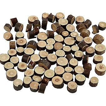 Mini Natural Wood Log Pieces with Bark for Floristry & Adult Crafts - 7mm to 10mm