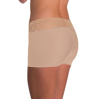 Naomi and Nicole Women's Edgies Nude Lace Boyshort A166