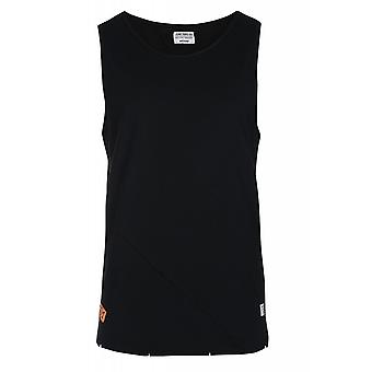 JUNK YARD Colin patch shirt men's plain tank top black