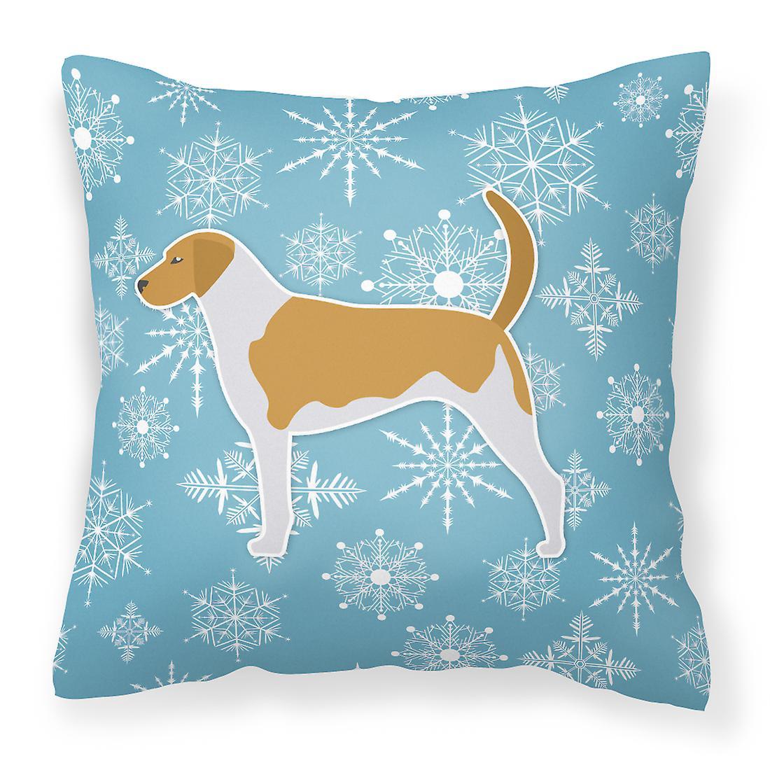 Décoratif Flocon Hiver American Tissu Neige Oreiller De Foxhound 534RLAj
