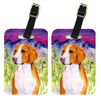 Carolines Treasures  SS1020BT Pair of 2 Drever Luggage Tags