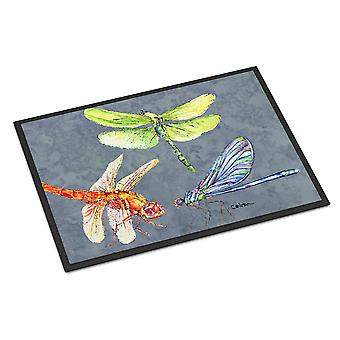 Carolines Treasures  8878MAT Dragonfly Times Three Indoor or Outdoor Mat 18x27 D