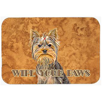 Yorkie / Yorkshire Terrier Wipe your Paws Kitchen or Bath Mat 20x30