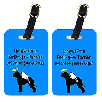 Carolines Treasures  AN1013BT Pair of 2 Bedlington Terrier Luggage Tags