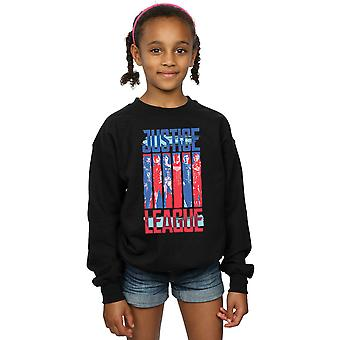 DC Comics Girls Justice League Movie Team Flag Sweatshirt