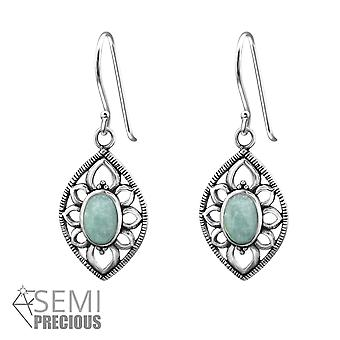 Marquise - 925 Sterling Silver Opal And Semi Precious Earrings - W32412x