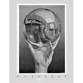 Mano con globo Poster Print por MC Escher (20 x 28)