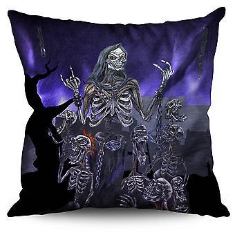 Scream Metal Death Linen Cushion Scream Metal Death | Wellcoda
