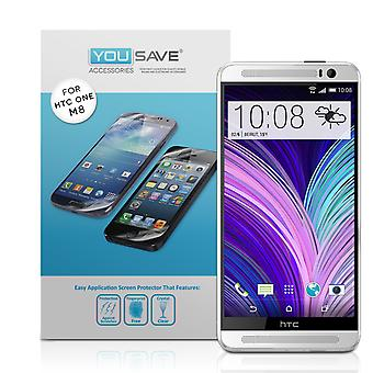 Yousave Accessories HTC One M8 Screen Protectors X5