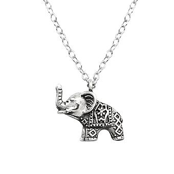 Olifant - 925 Sterling Zilver Plain-kettingen - W32253x