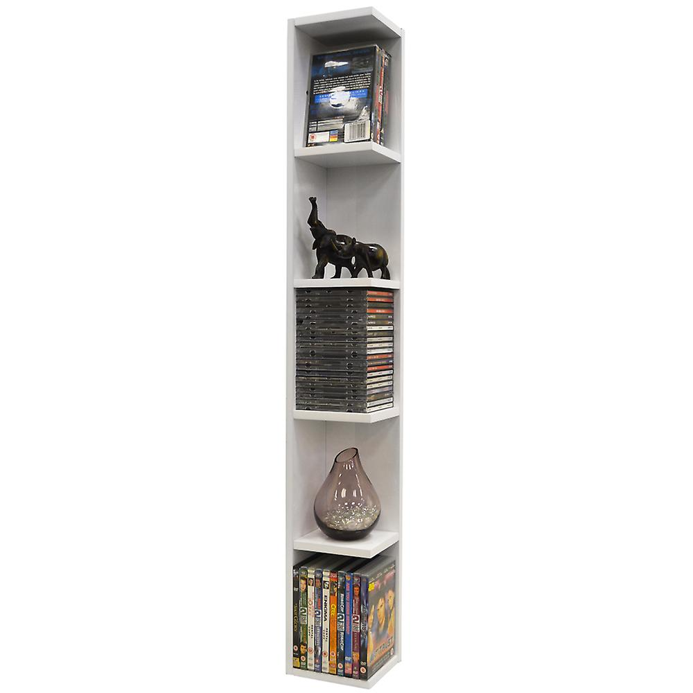 Virgil - Gloss 105 Cd / 75 Dvd / Blu-ray / Media Wall Storage Shelf - White