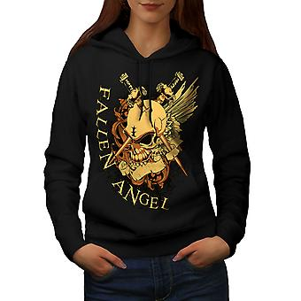 Fallen Angel Krieg Skull Frauen BlackHoodie | Wellcoda