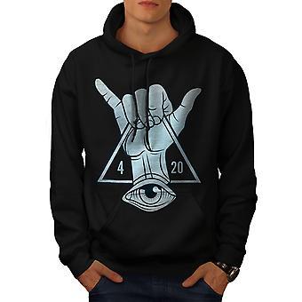 Rastaman Illuminati uomini BlackHoodie | Wellcoda
