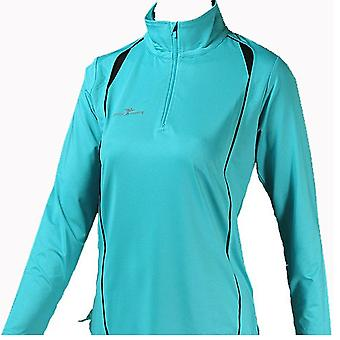 PRECISION  Ladies Long Sleeve Turtle Running Shirt [TURQUOISE]