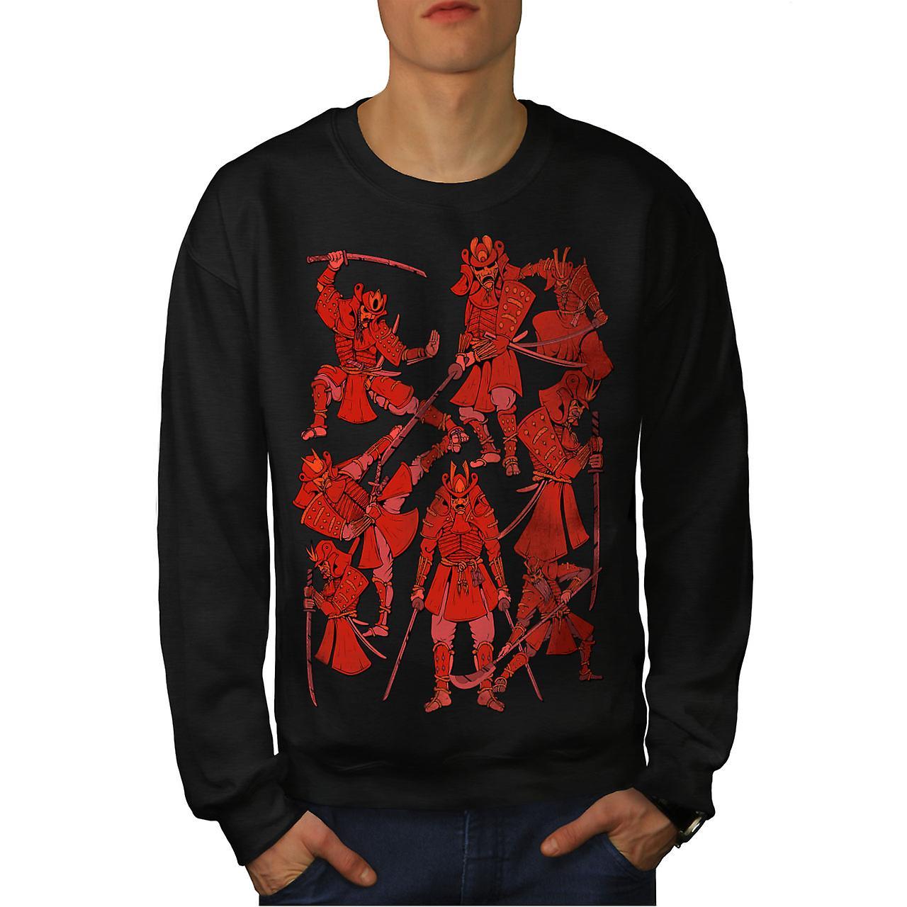 Katana Warrior Fantasy hommes noirSweatshirt