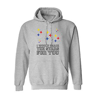 I Would Reach The Stars For You Graphic Men's Sports Grey Hoodie