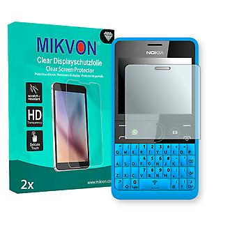 Nokia Asha 210 Dual SIM Screen Protector - Mikvon Clear (Retail Package with accessories)