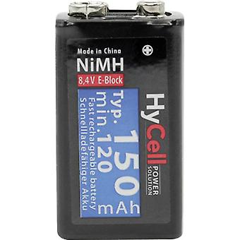 9 V / PP3 battery (rechargeable) NiMH HyCell 6LR61 150 m