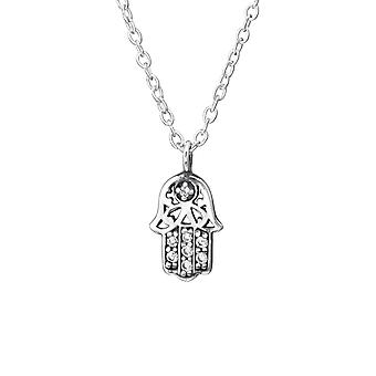 Hamsa - 925 Sterling Silver Jewelled Necklaces - W33815x