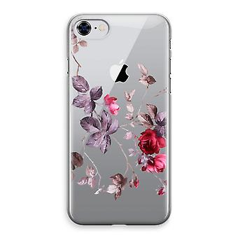 iPhone 8 Transparant Case - Pretty flowers
