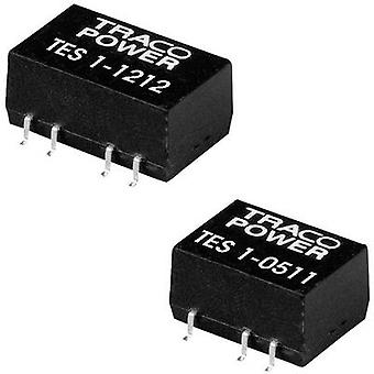 TracoPower TES 1-1213 DC/DC converter (SMD) 12 Vdc 15 Vdc 65 mA 1 W No. of outputs: 1 x