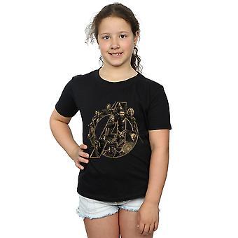 The Avengers Infinity Krieg Avengers Logo T-Shirt für Mädchen