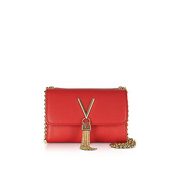 Valentino by Mario Valentino women's VBS1R403GRED red faux leather shoulder bag