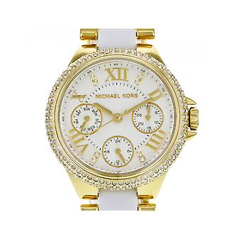 Michael Kors Ladies Camille White And Gold Watch MK5945