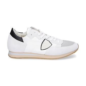 Philippe model men's TRLU1108 White leather of sneakers