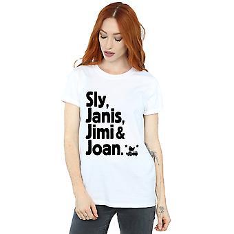 Woodstock Women's Legends List Boyfriend Fit T-Shirt