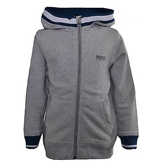 Hugo Boss jongens Hugo Boss Kids grijs Hooded Sweatshirt