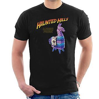 Fortnite Haunted Hills Lama Park Indiana Jones Mix Herren T-Shirt