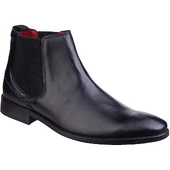 Base London Mens Cheshire Waxy Pull On Leather Smart Dress Ankle Boots