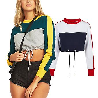 Urban Classics Ladies - 3-TONE Cropped Stripe Pullover