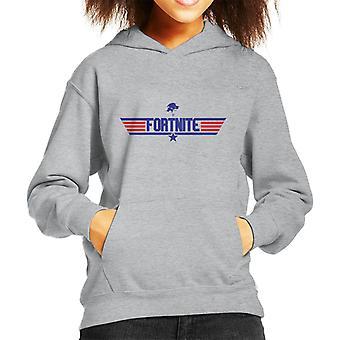 Fortnite Top Gun Logo Mix Kinder Sweatshirt mit Kapuze