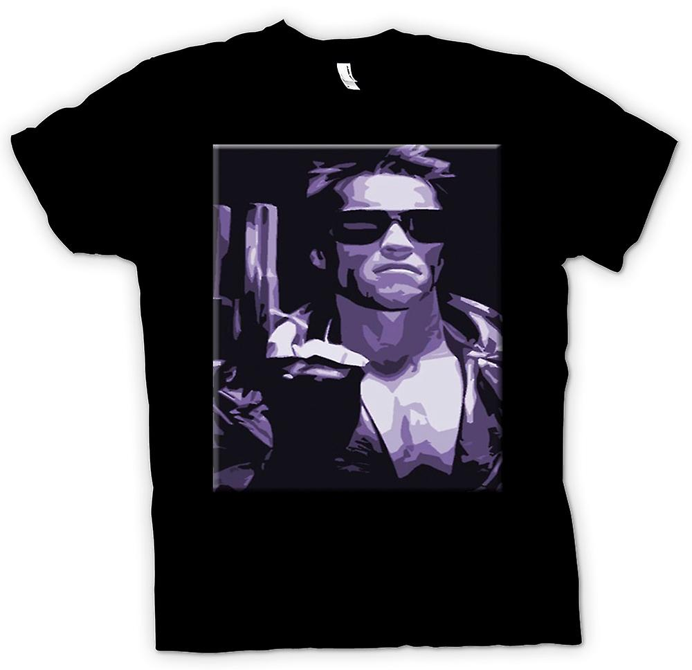 Mens t-skjorte - Terminator - Pop Art - Sci Fi - film