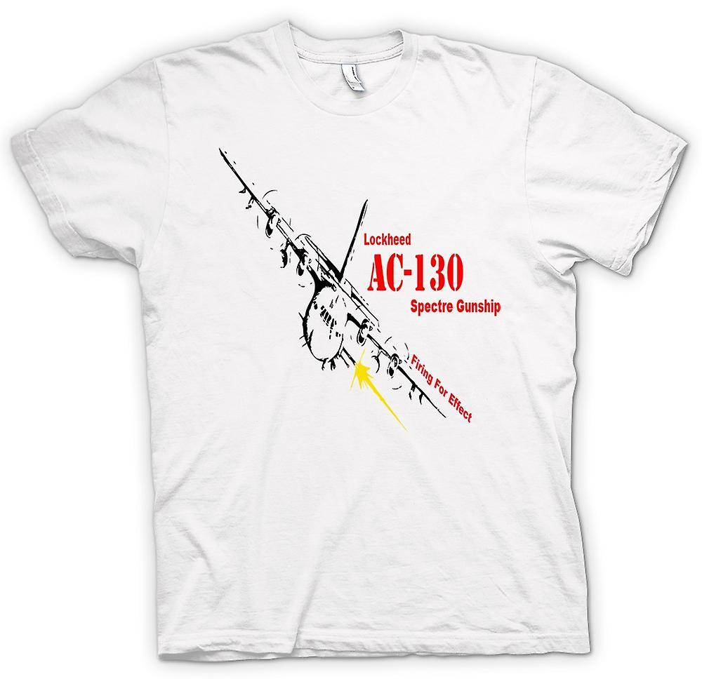 Heren T-shirt-Lockheed Ac0 Spectre Gunship
