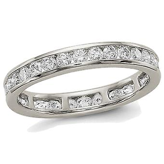 1.00 Carat (ctw Color H-I, SI2-I1) Diamond Eternity Wedding Band in 14K White Gold