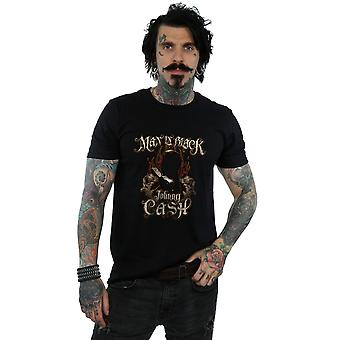 Johnny Cash Men's Man In Black Fire T-Shirt